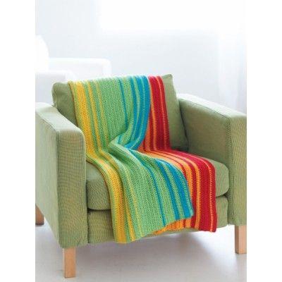 Crochet Color Blanket Afghan Waves Rainbow