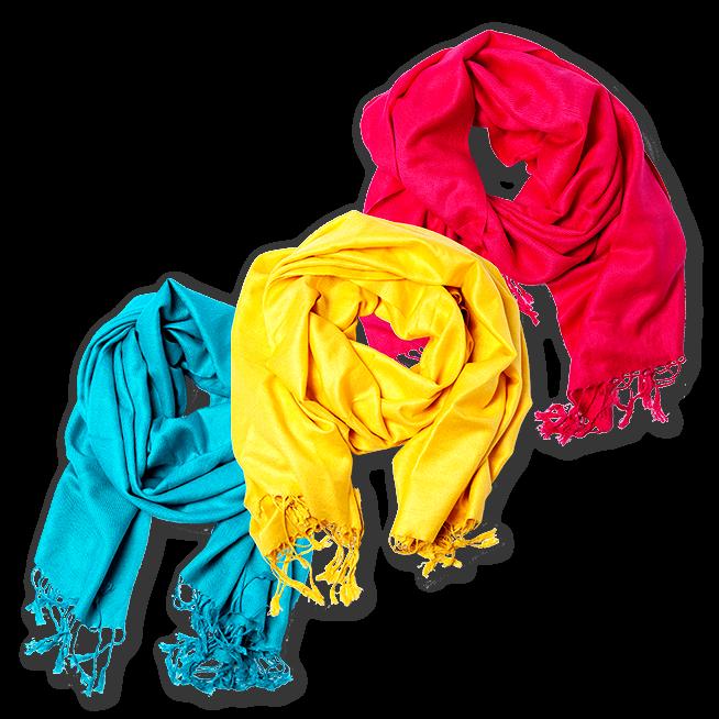 L-DiscountStore Men Solid Color Scarf Tassel Stylish Long Shawl Wrap