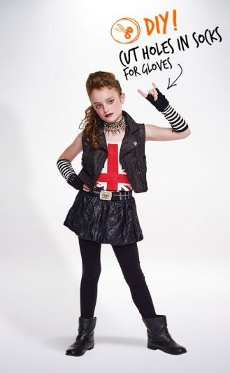 Pin By Savers Value Village On Halloween Costume Ideas Rocker Costume Rockstar Costume Punk Rocker Costume