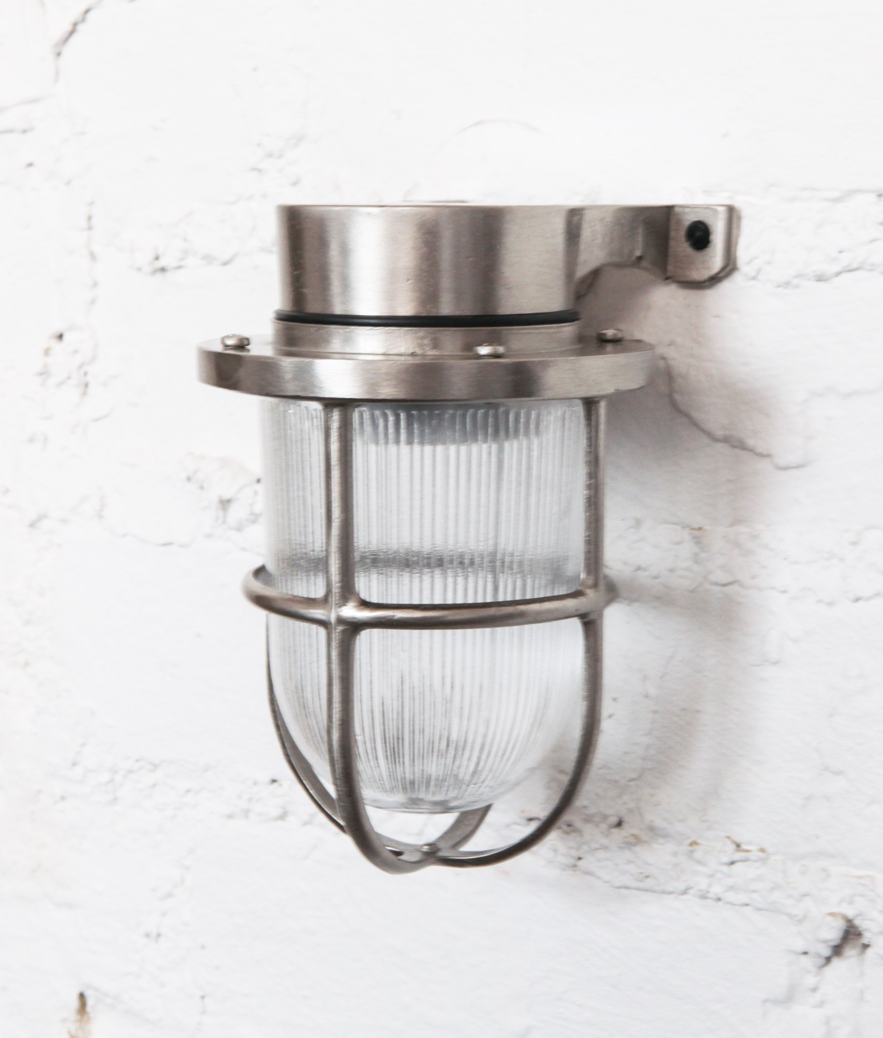Dowsing and reynolds 70 bulkhead wall light forgotten silver 1g our simon bulkhead light is perfect for using as industrial bathroom lighting hes a downlight wall light aloadofball Images