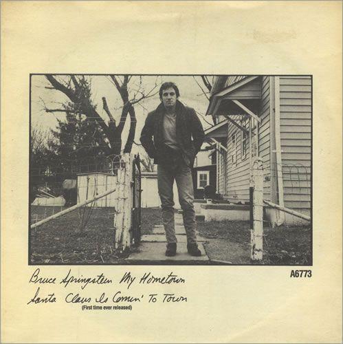 Bruce Springsteen My Hometown Uk 7 Vinyl Single 7 Inch Record 1678 Bruce Springsteen Bruce Springsteen The Boss Bruce