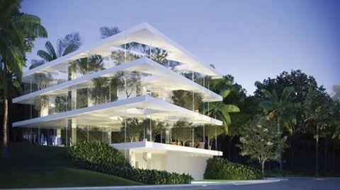 """O arquiteto japonês Sou Fujimoto descreve, em entrevista exclusiva, como imagina as casas no futuro: """"salas e quartos podem acabar, mas a privacidade não."""" Na foto, uma das primeiras propostas de Fujimoto para a casa em São Paulo. Confira a matéria completa clicando no link da nossa bio. #casavogue #arquitetura #interiores #soufujimoto"""