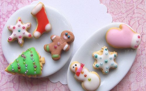 Dollhouse Miniature Easter Cookies on a Plate by Multi Minis