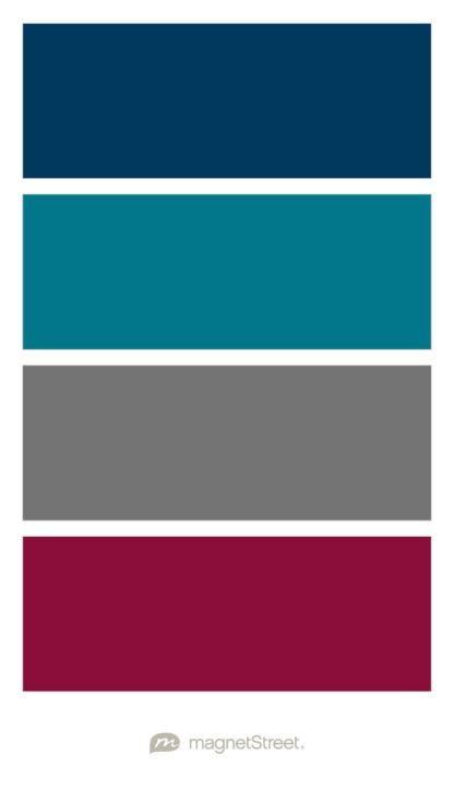 navy peacock charcoal and burgundy wedding color palette custom