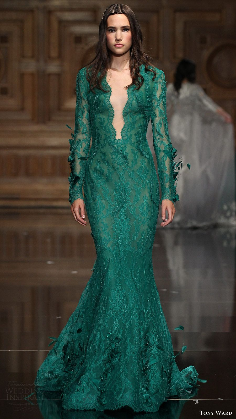 Tony ward fallwinter couture collection sleeve green
