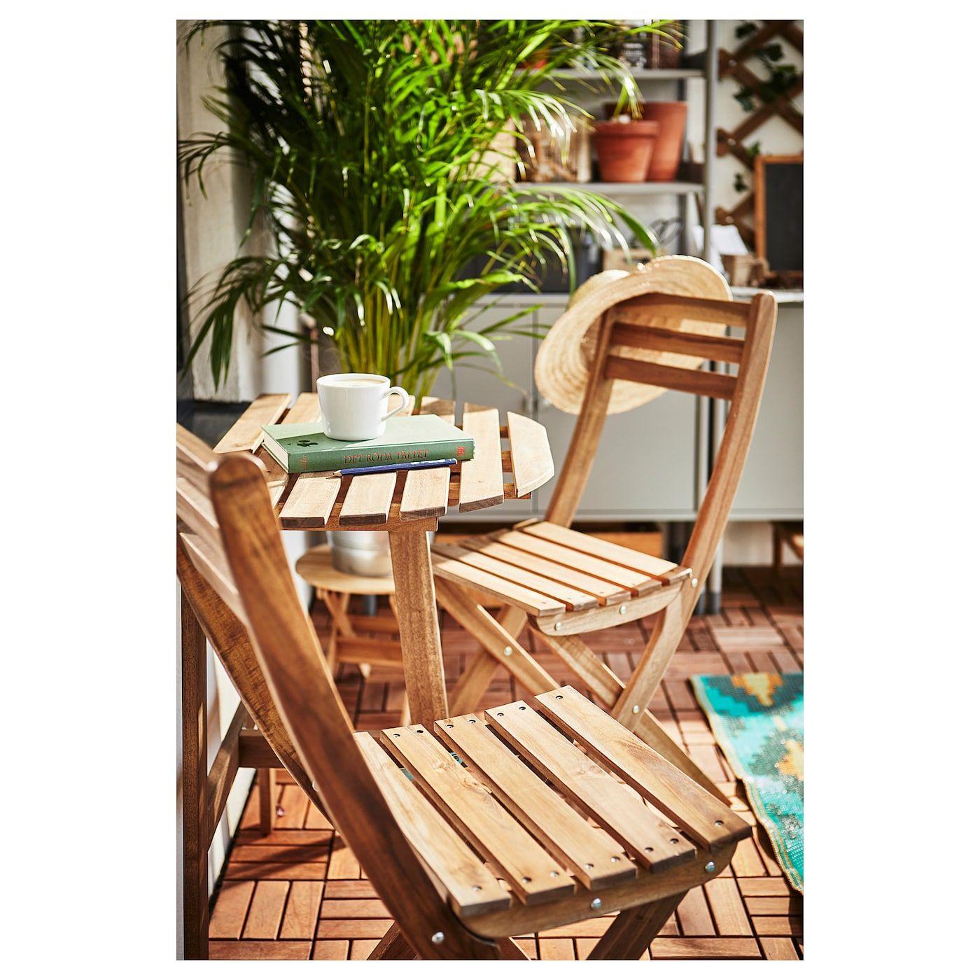 ASKHOLMEN Tisch+4 Stühleaußen graubraun lasiert