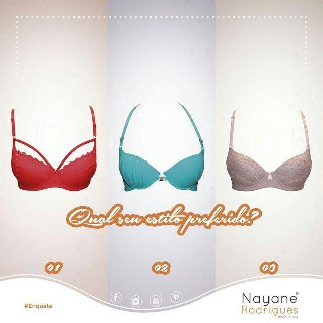 Não tem como resistir!     Qual seu estilo preferido?  #UseNayane #NayaneRodrigues #ModaÍntima #Enquete #Lingerie