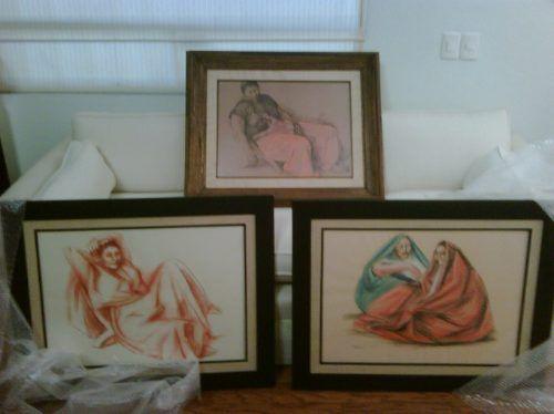 Lote De 3 Obras Originales De Francisco Zuñiga $7,397.96 USD Mexico Otros
