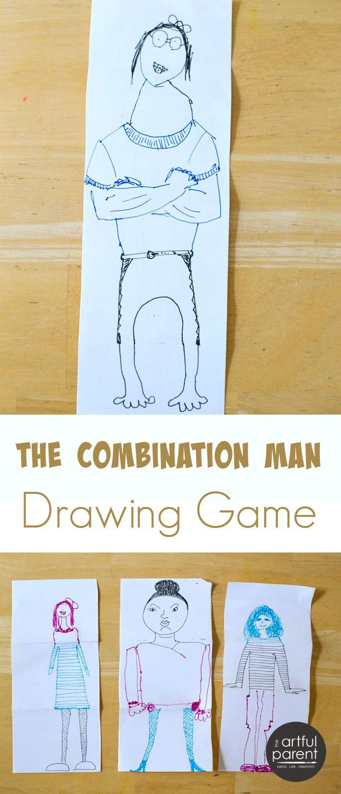 The Combination Man or Exquisite Corpse Drawing Game | Drawing games ...
