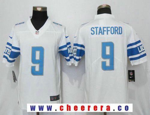 Men s Detroit Lions  9 Matthew Stafford White 2017 Vapor Untouchable  Stitched NFL Nike Limited Jersey 448c4491d