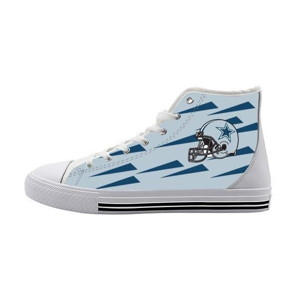 Dallas Cowboys Customized High Top Canvas Shoes