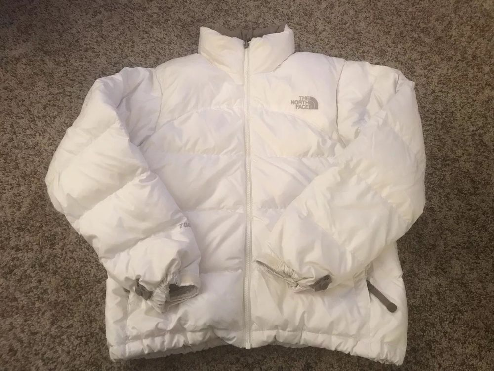 034efb35c7 The North Face Womens White 700 Fill Goose Down Puffer Jacket Sz Small EUC   fashion  clothing  shoes  accessories  womensclothing  coatsjacketsvests  (ebay ...