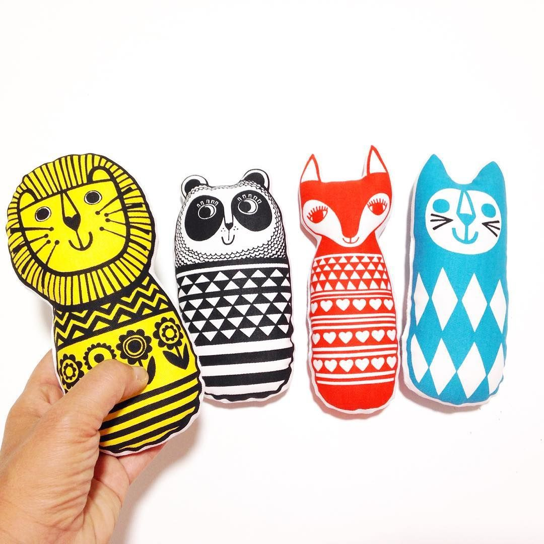 I designed these screen printed animals for Make International - they are available as a kit and are suitable for children to make! They are also available in John Lewis!