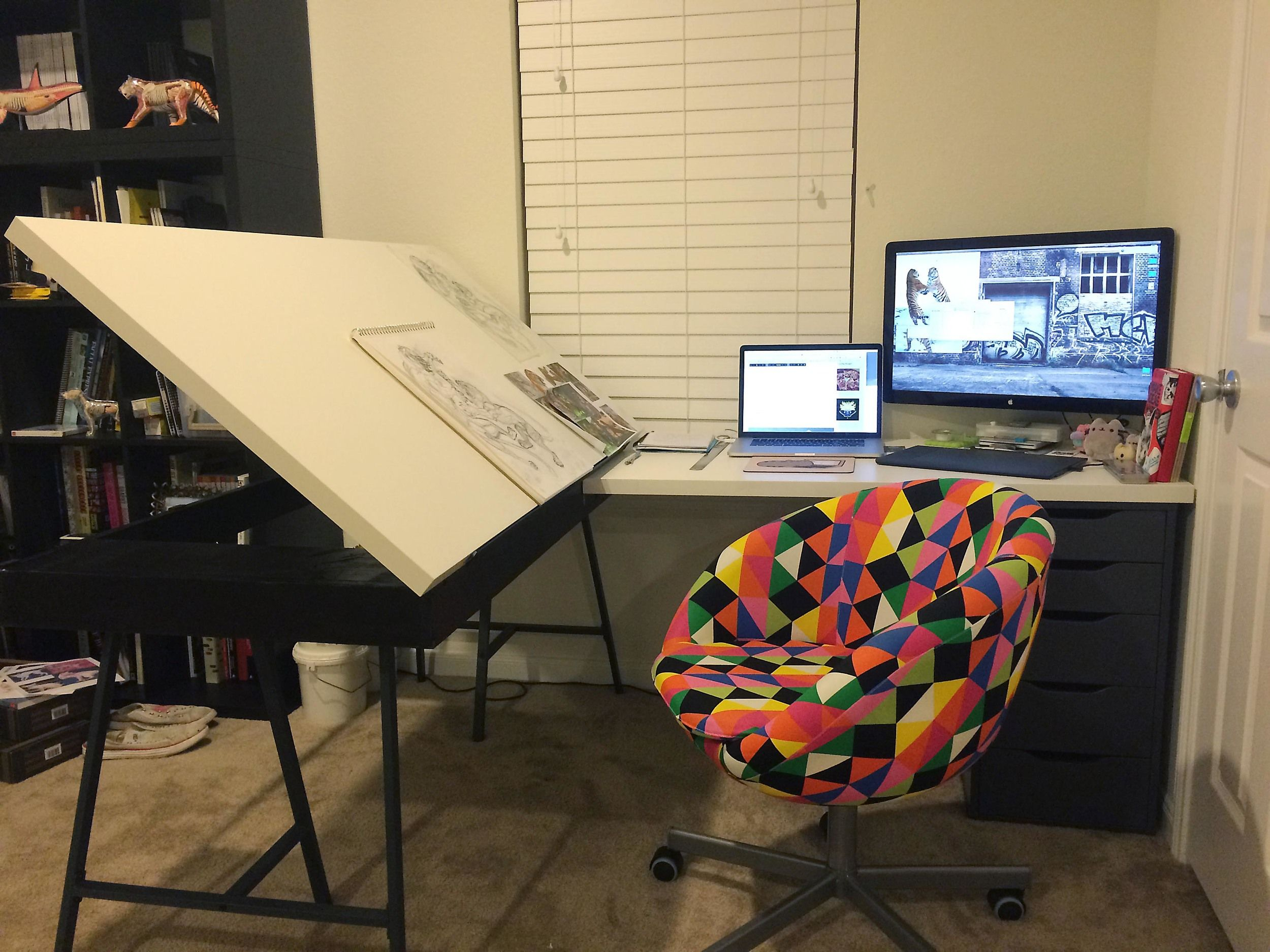 Would you like to build one of these? Check out my new Blog post: Ikea Hack Drawing Table — Creative Cat's Studio