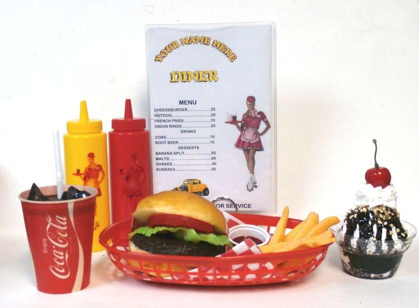 Coca Cola /'Coke/' Diner Basket Liners Printed