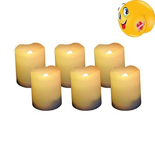 Flameless Votive Candles Candle Choice Set Of 6 Votive Flameless Candles With Timer 400Hour