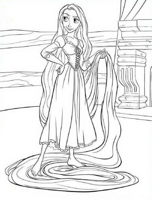 Coloring Page Barbie Rapunzel