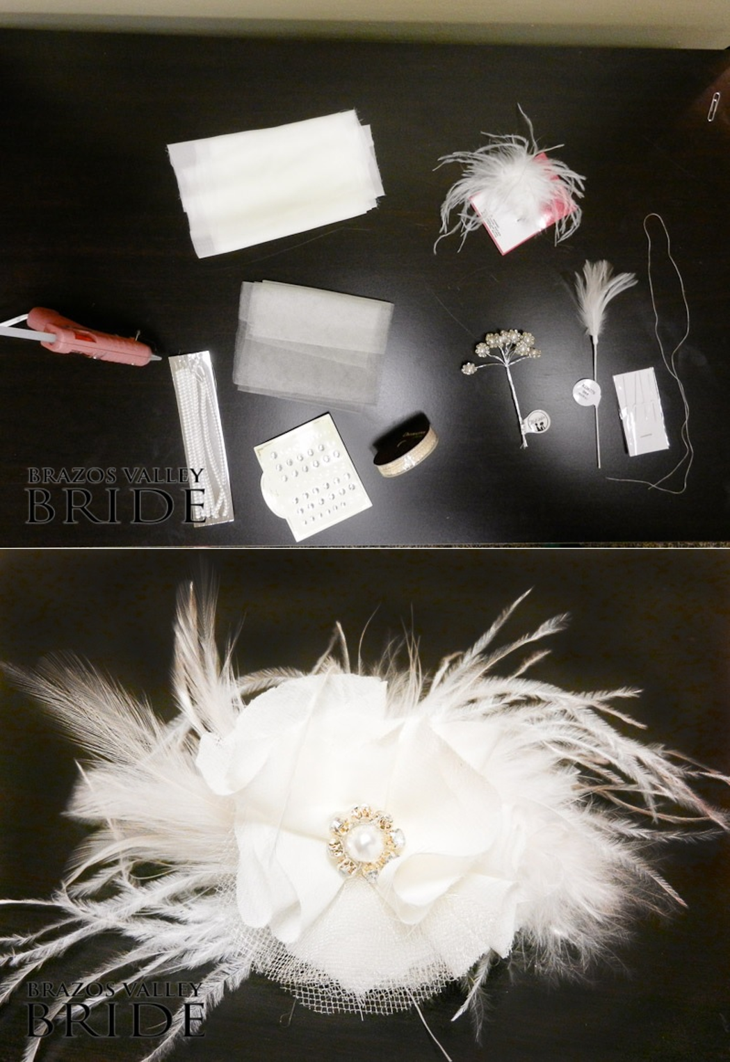 Diy hair accessories for weddings - How To Diy Gatsby Inspired Feather Hair Piece Diy Hair Accessories