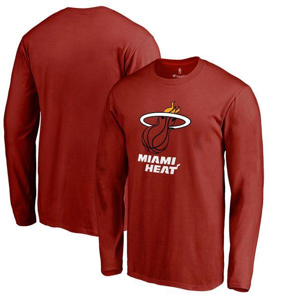 Miami Heat Fanatics Branded Big & Tall Team Primary Logo Long Sleeve T-Shirt  -