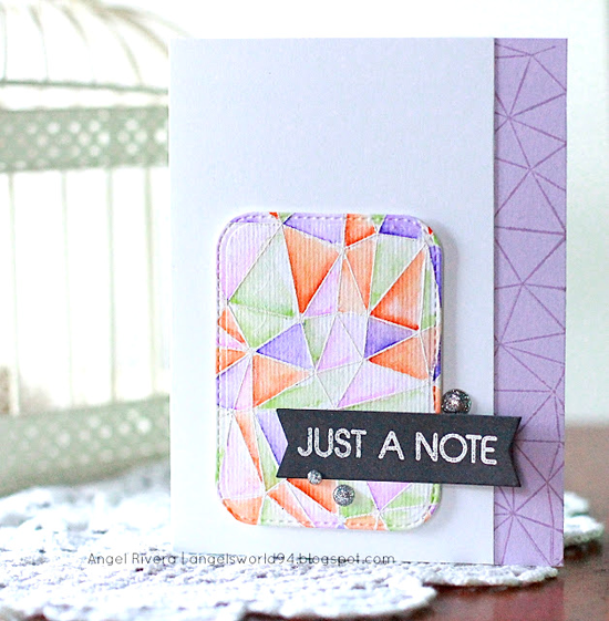 Abstract Background stamp - Angela Rivera #mftstamps
