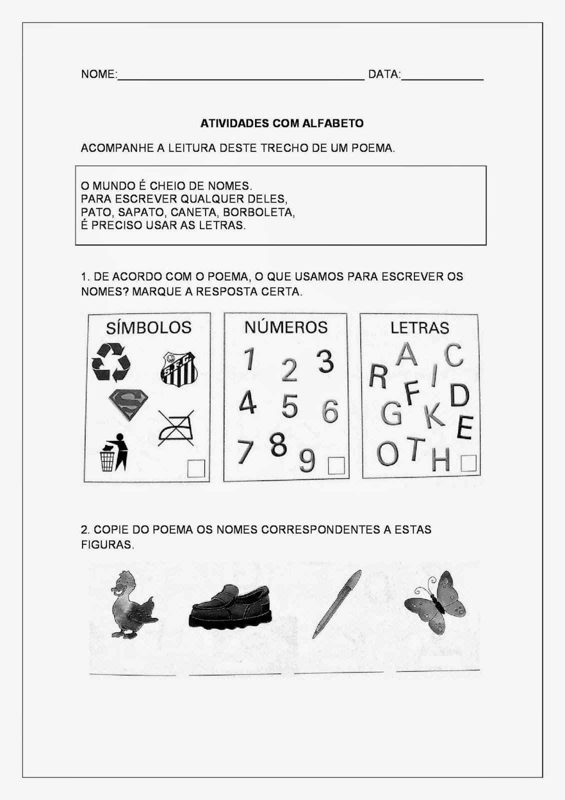 Resultado De Imagem Para Atividades Letras E Desenhos Letras E