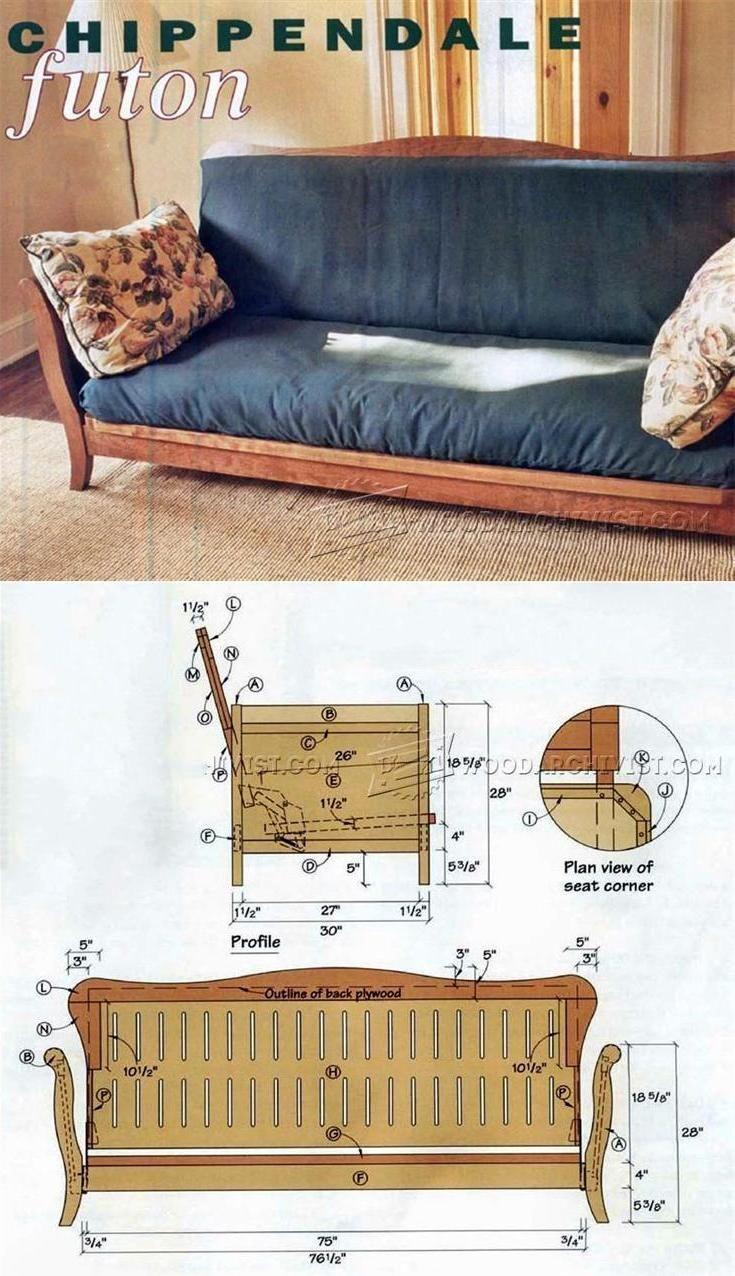 Futon Frame Plans - Furniture Plans and Projects   WoodArchivist.com ...
