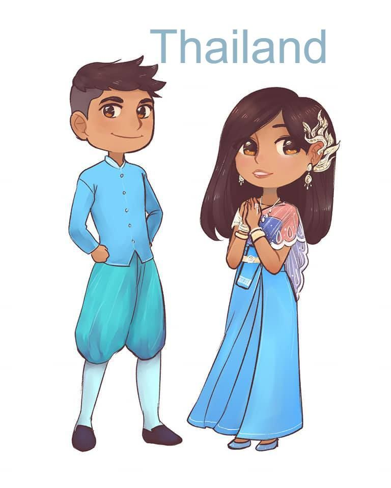 Asean Members Traditional Outfits Country Costumes Traditional Outfits Anime Expressions