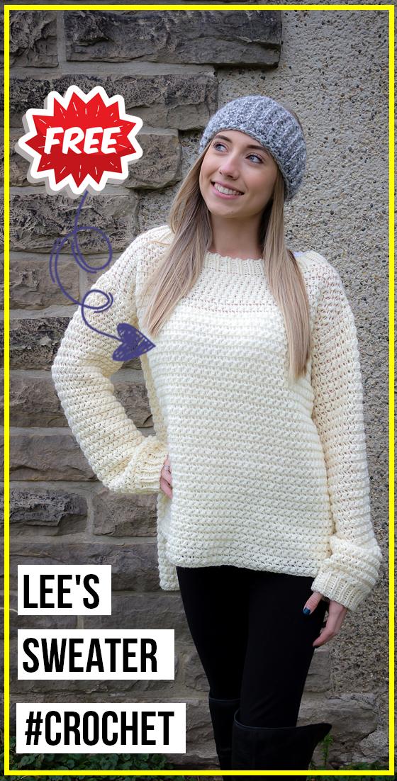 crochet Lees Sweater free pattern