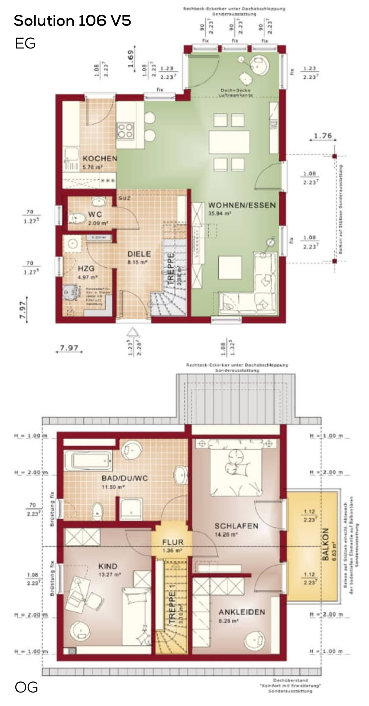 grundrisse einfamilienhaus satteldach 3 zimmer grundriss erdgeschoss offen erker treppe. Black Bedroom Furniture Sets. Home Design Ideas