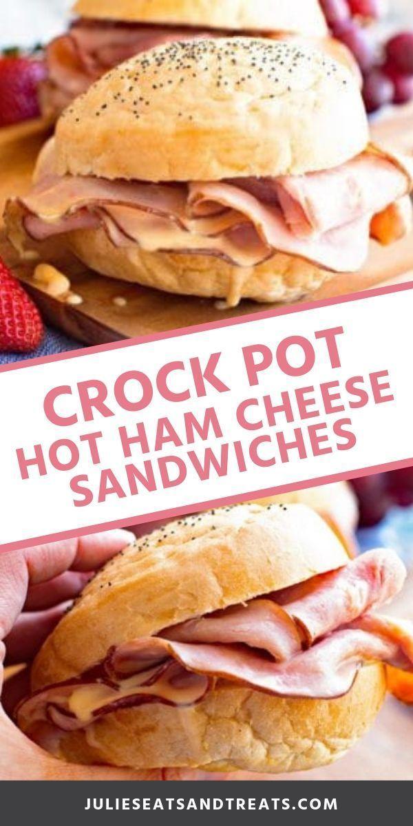 Crock Pot Hot Ham Cheese Sandwiches