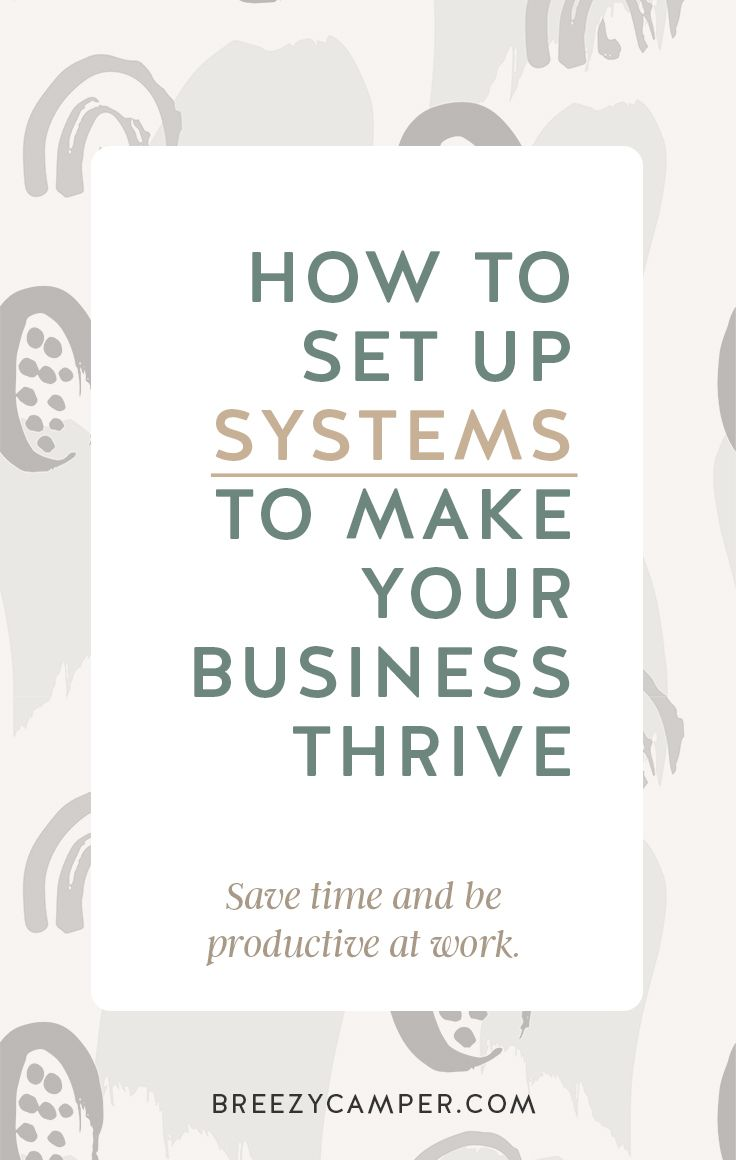 How To Set Up Systems To Make Your Business Thrive