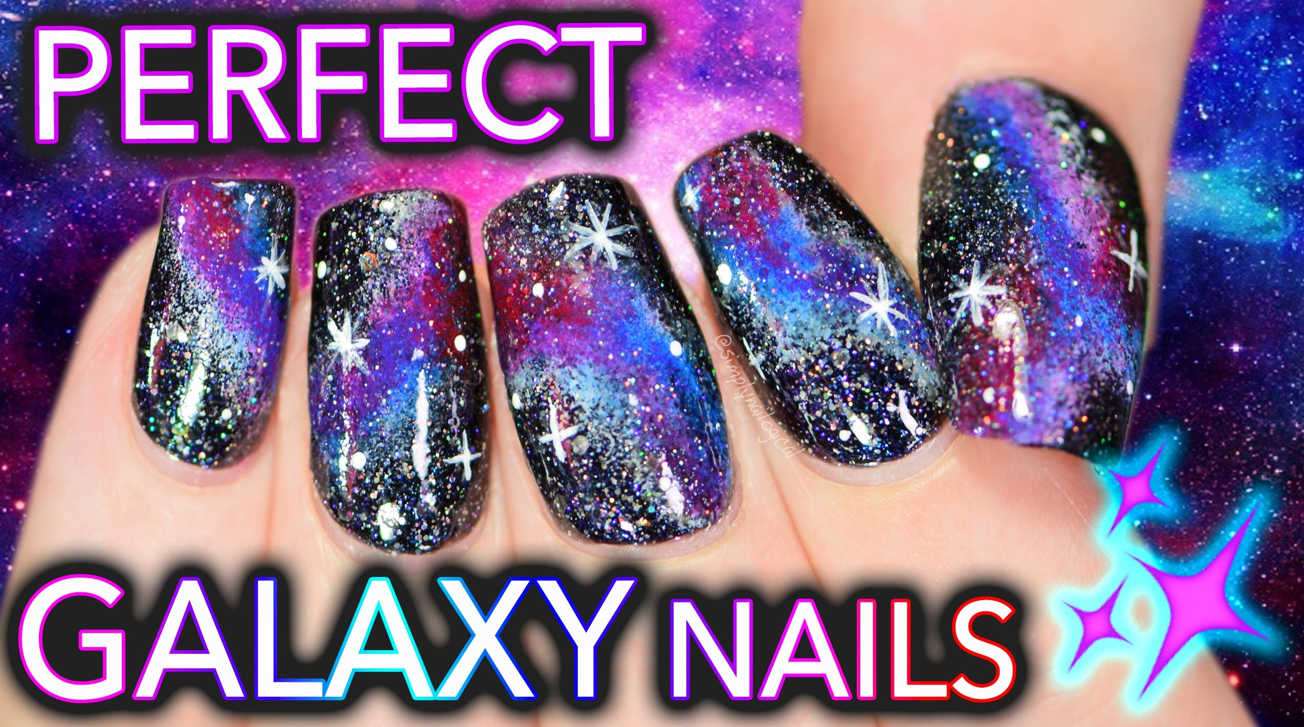 The Fault in Your Galaxy Nails | Get PERFECT DIY Galaxy Nails ...