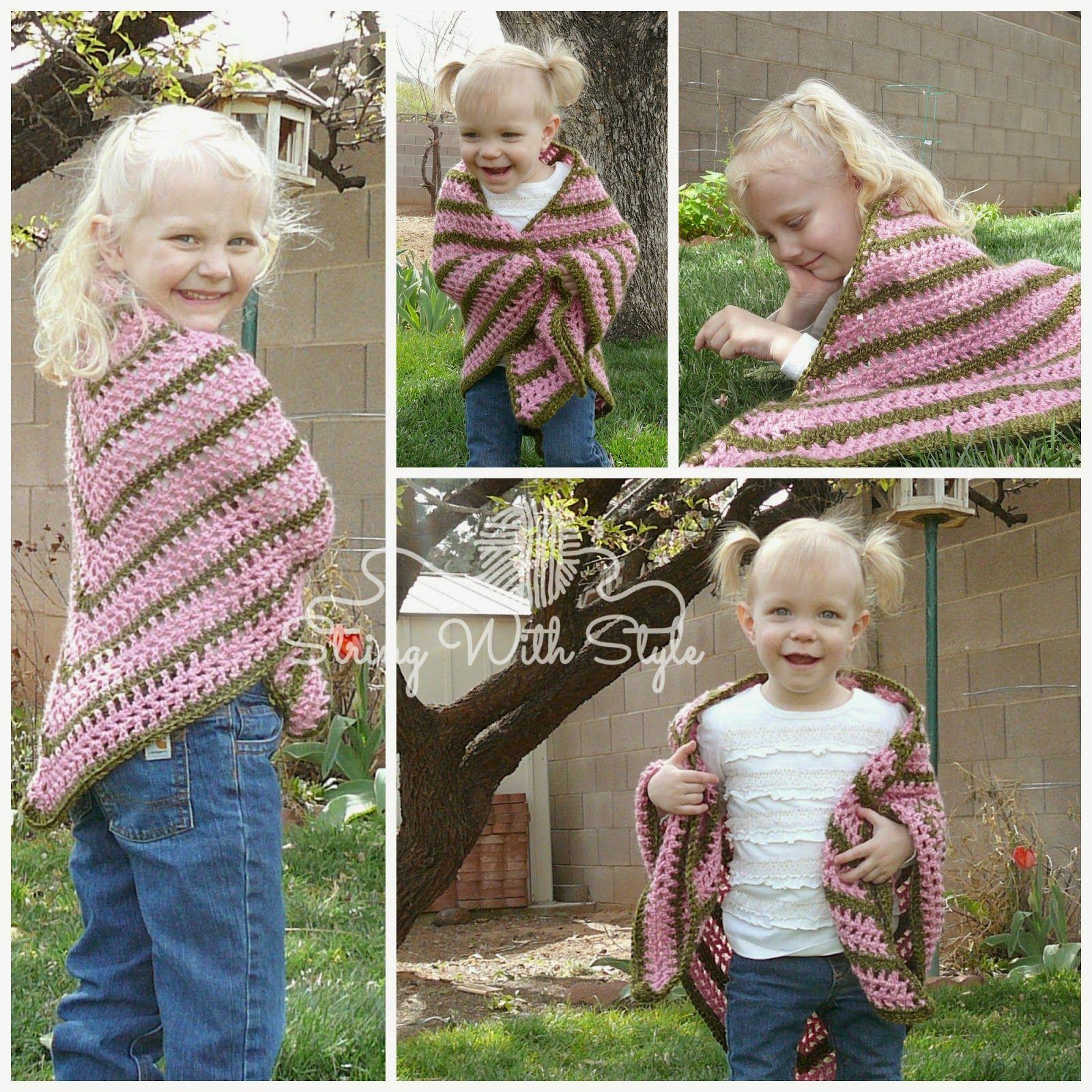 Sassy Girl Chal triangular diseñado por Cadena con estilo - Patrón de crochet GRATIS!