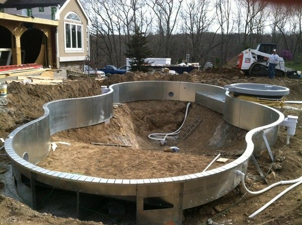 Mountain Lake Shape Legacy Edition Vinyl Lined In Ground Pool Construction Pool Features A