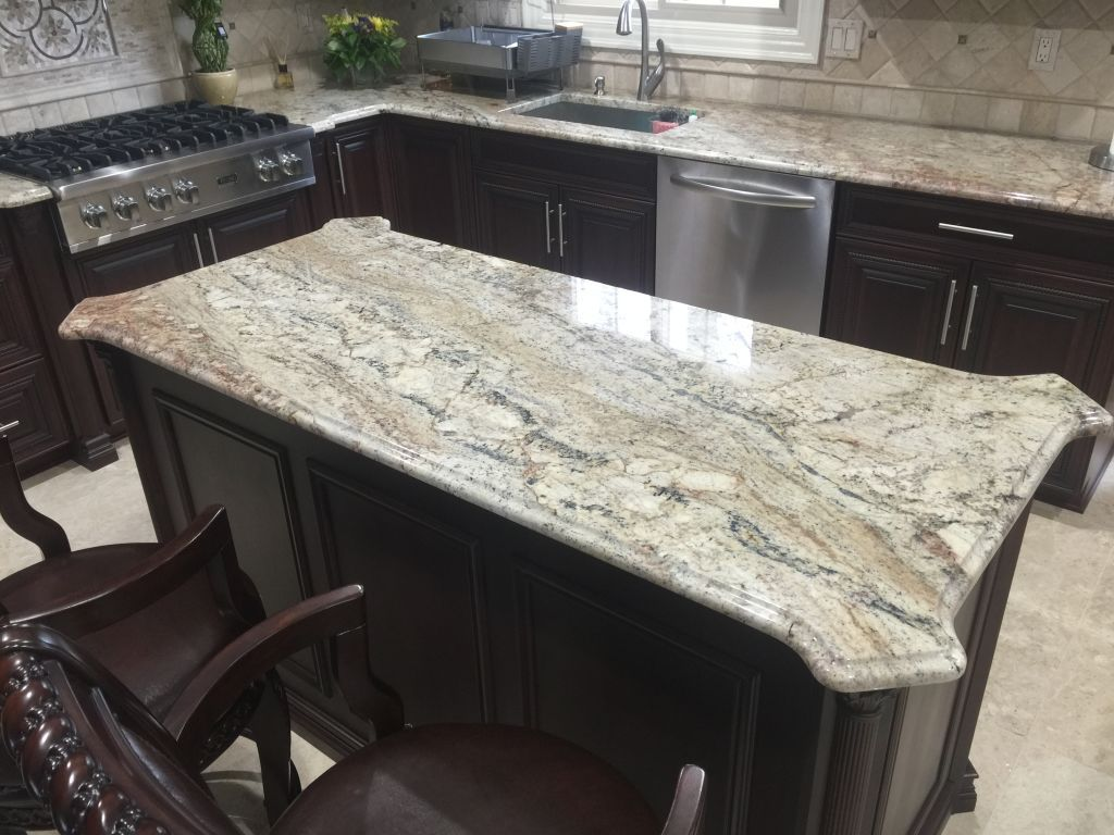 Delicieux Typhoon Bordeaux / Typhon Bordeaux Exotic Granite Countertops For Kitchen U0026  Island , With Stainless Steel Under Mount Sink . Beautiful And Amazing  Color ...