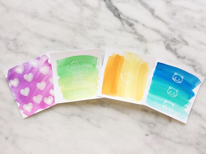 Watercolor Notecards A Quick 5 Minute Diy Note Cards Paper