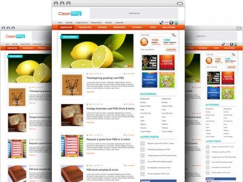 Awesome WordPress Blog Theme PSD Template. Download WordPress Blog ...