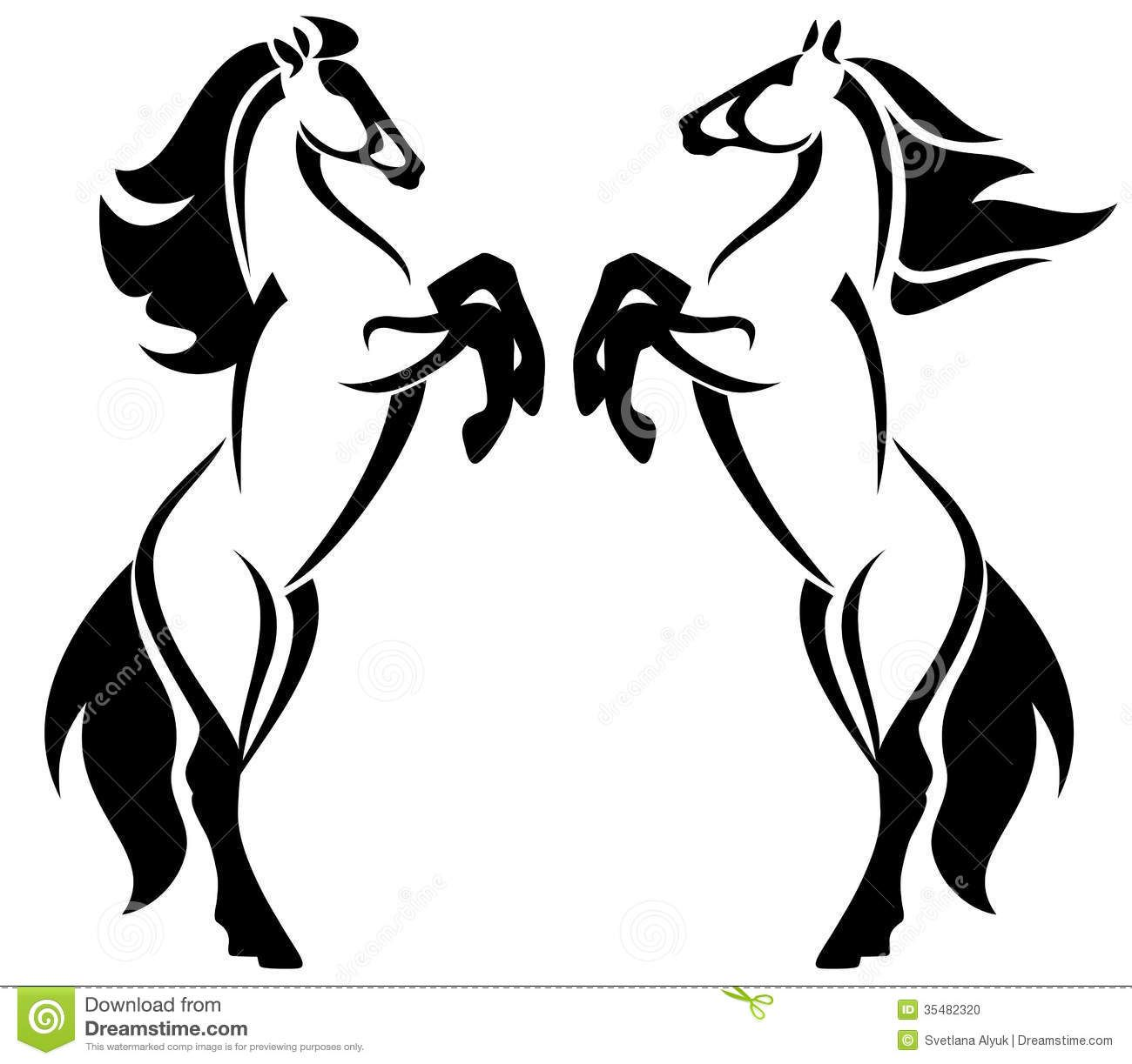 horses design rearing up horse fine outlines black white emblems 1300 1223. Black Bedroom Furniture Sets. Home Design Ideas