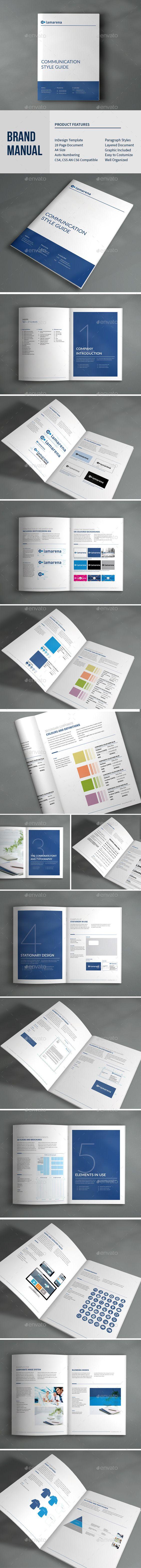 Brand Manual Brochure Template InDesign INDD #design Download: http ...