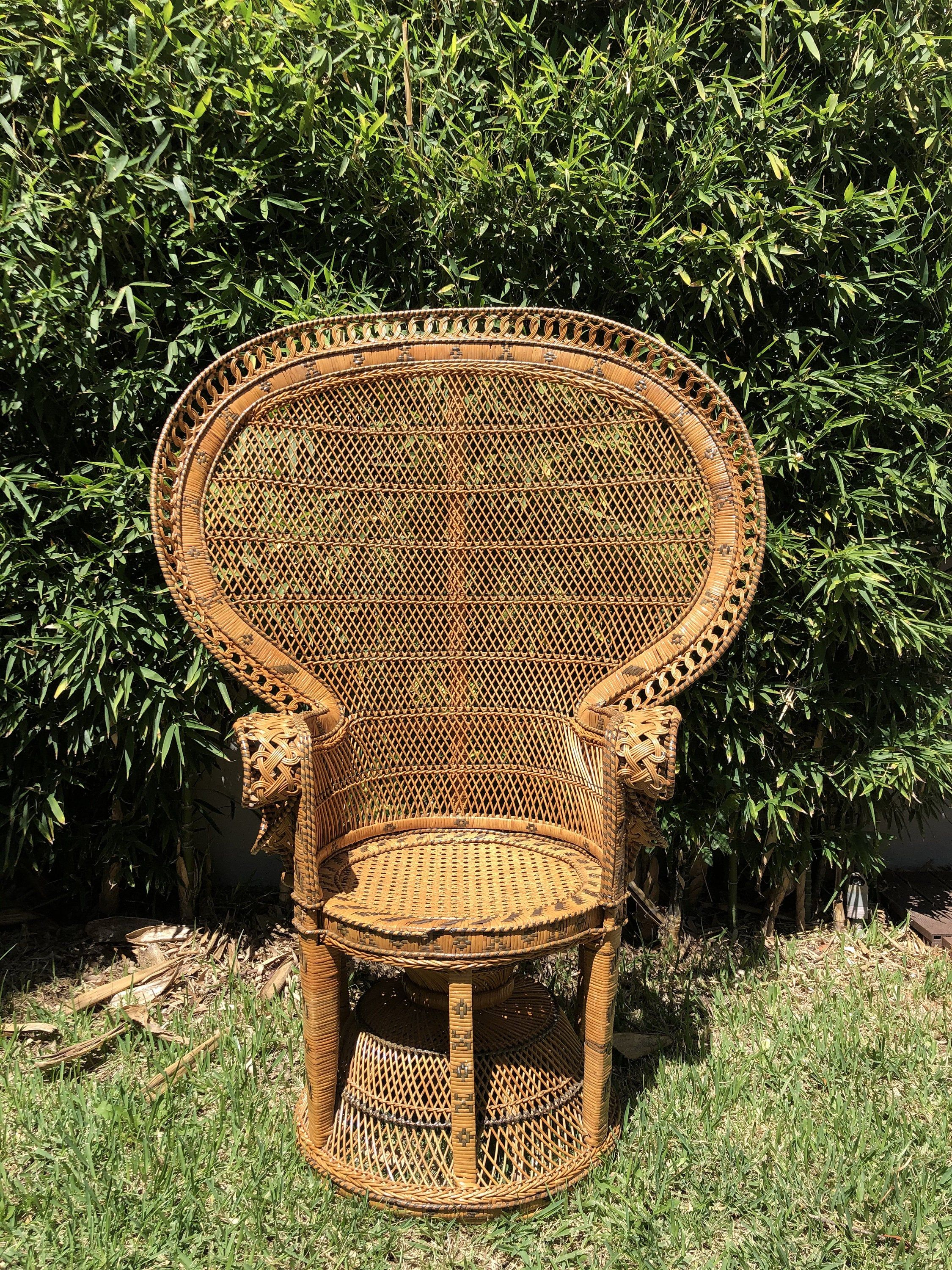 Peacock chair vintage peacock chair in rattan and wicker