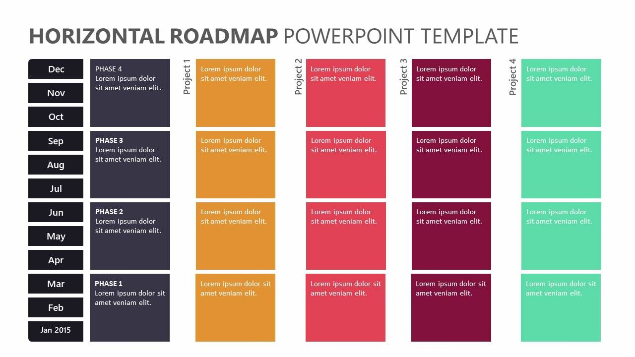 Horizontal Roadmap Powerpoint Template Related Templates Modern