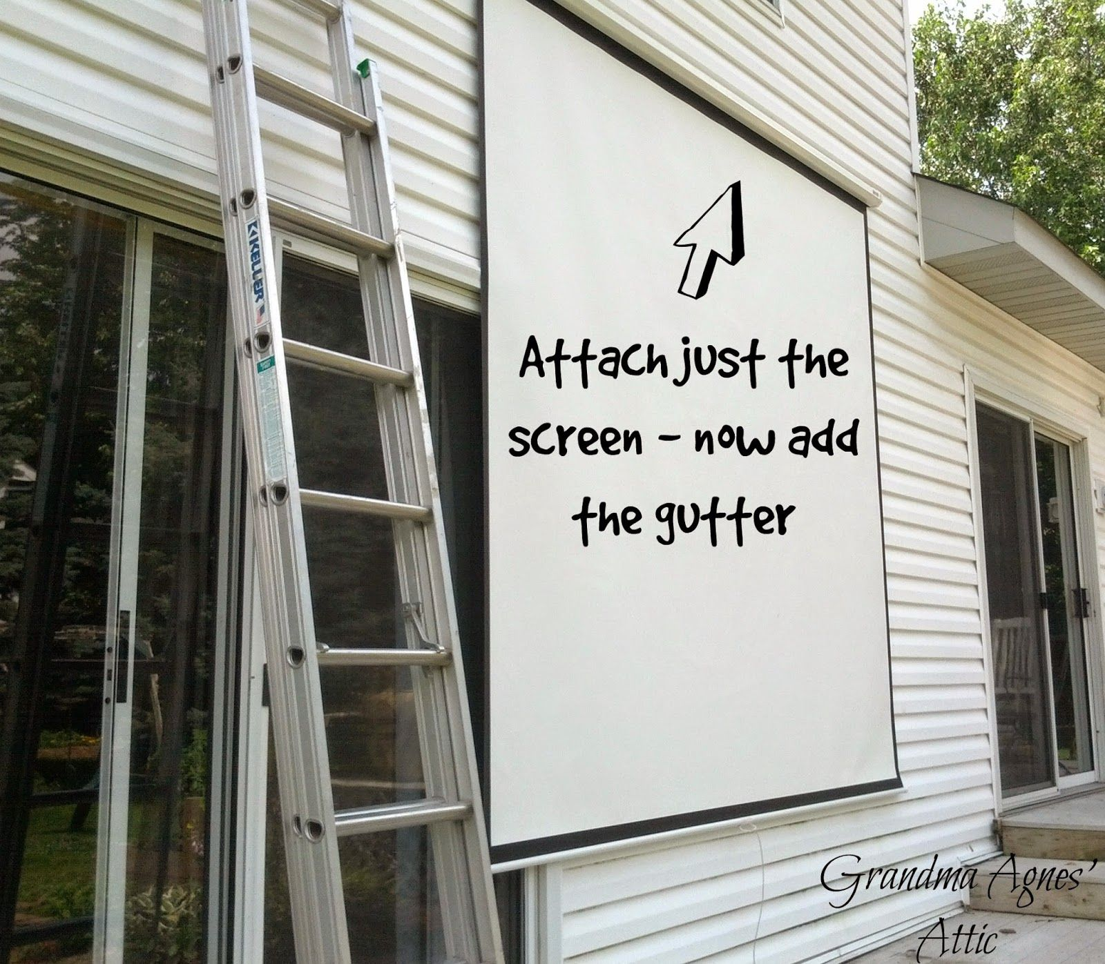 Grandma Agnes\' Attic: Outdoor Movie Screen {in your Own Backyard ...