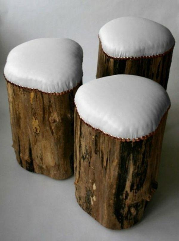 Bequeme Stuehle Kreative Deko Ideen Aus Baumstumpf