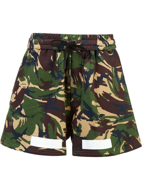 OFF-WHITE Auction House Camouflage Print Shorts. #off-white #cloth ...
