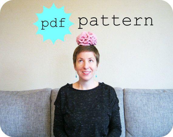 PDF Crochet Pattern How to Crochet a Brain by FullFlowerMoon, $2.50 ...