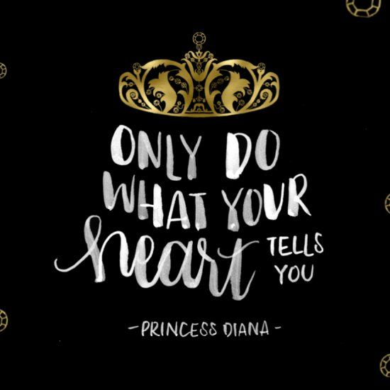 Follow your heart. Here are some free desktop and phone wallpapers with a  quote from the late Princes… | Disney quote wallpaper, Quote backgrounds,  Beautiful quotes