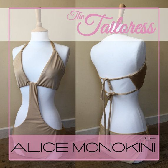 Alice Monokini PDF Sewing Pattern Monokini Pdf Sewing Patterns ...