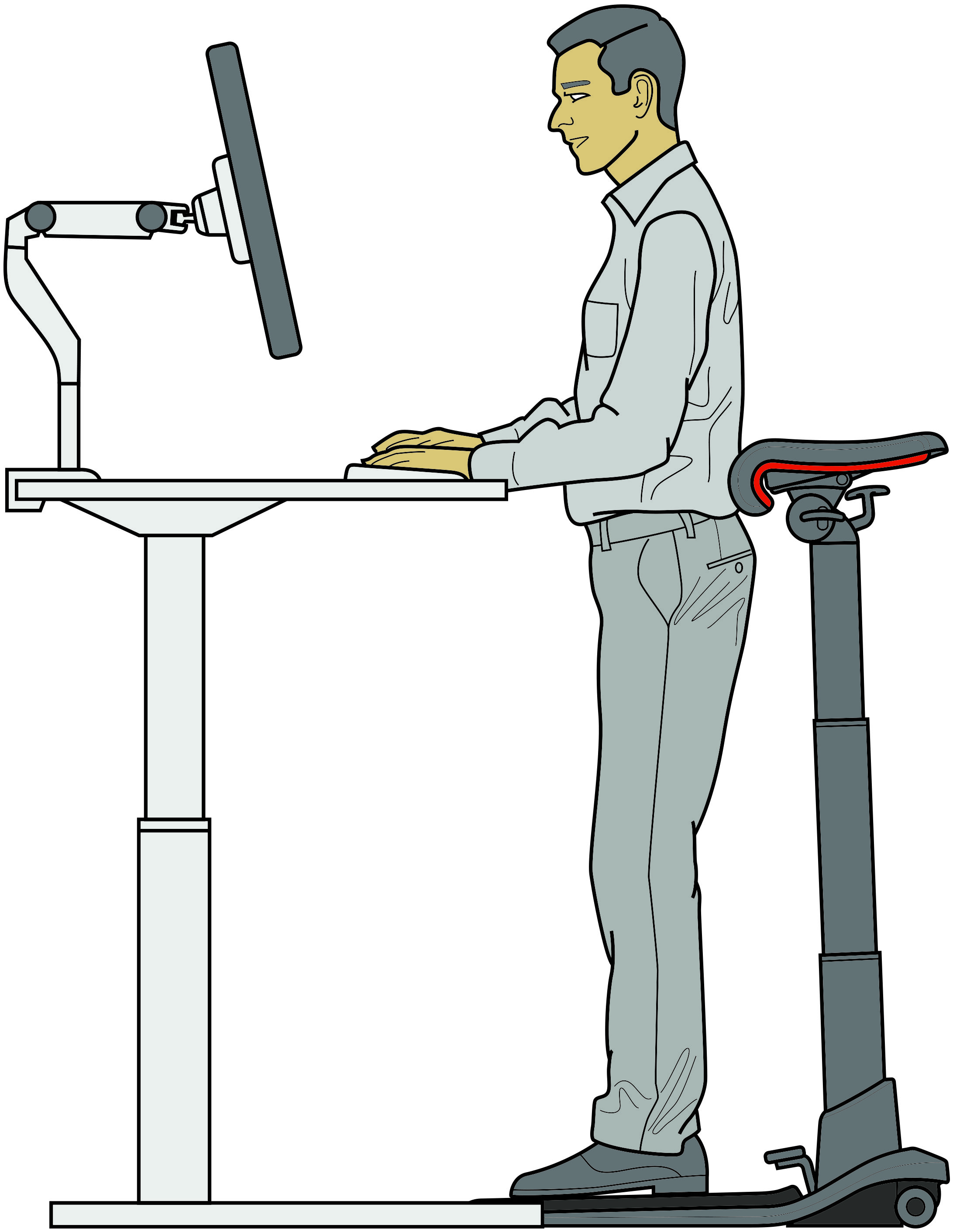 Awesome Leanrite Standing Desk Chair Designed So You Can Sit Stand Download Free Architecture Designs Grimeyleaguecom