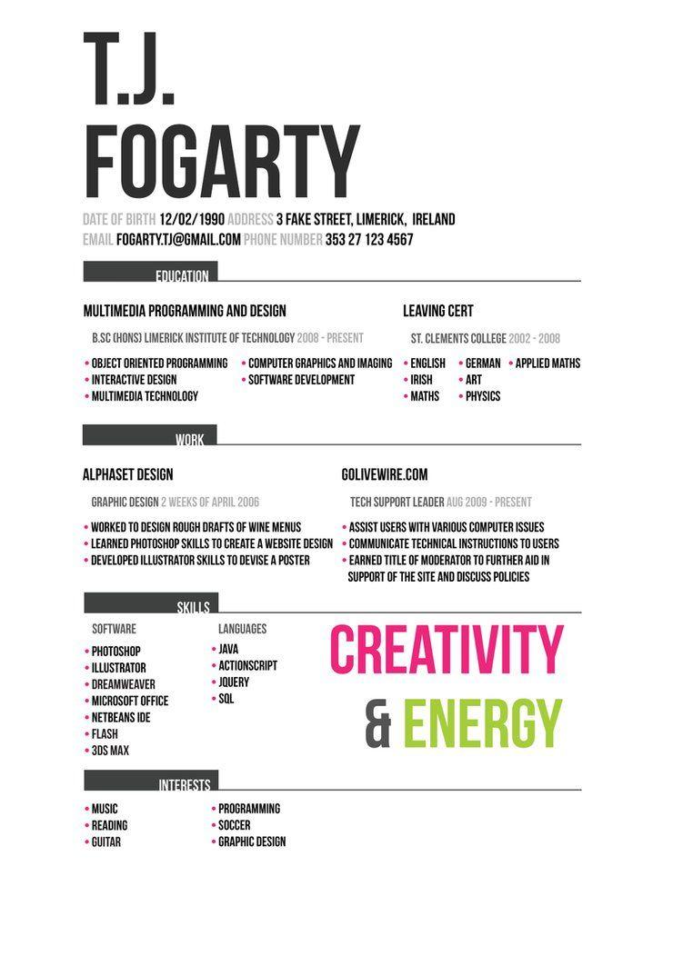 Old Cv Design Curriculums Creativos Curriculums Creatividad