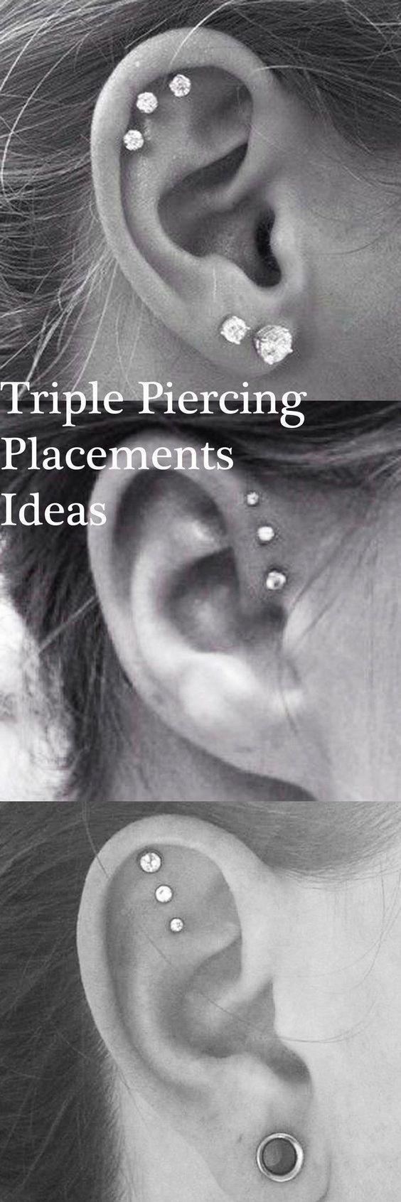 Idées de piercing ! Pour l'hélix, plusieurs possibilités très originales ! #piercing #fashion #helixpiercing - Pinehouse #earpiercingideas
